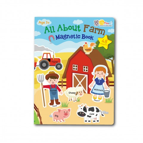 All About Farm Magnetic Book