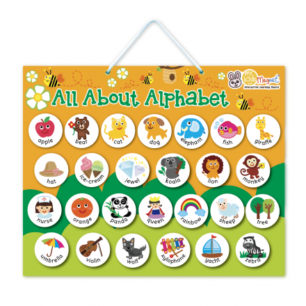 All About Alphabet Magnetic Board
