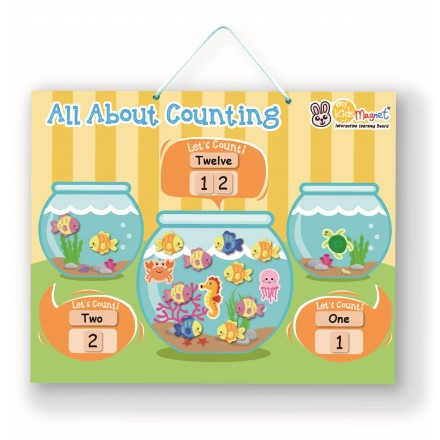 All About Counting (Aquarium) Magnetic Board