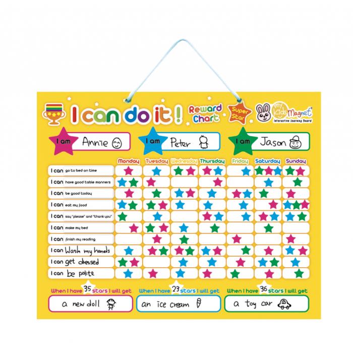 i can do it magnetic reward chart