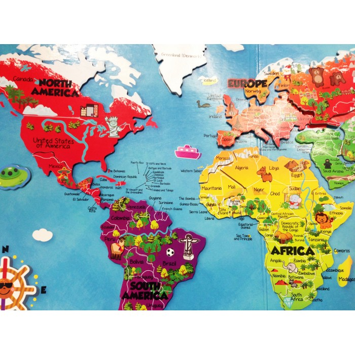 Around Our World Magnetic Map Puzzles Book – Magnetic Travel Map