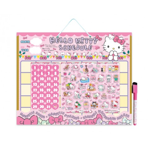 Hello Kitty Magnetic Monthly Schedule Board