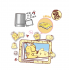(瑕疵品) PomPomPurin 20th Anniversary Epoxy Magnetic Photo Frame Box Set