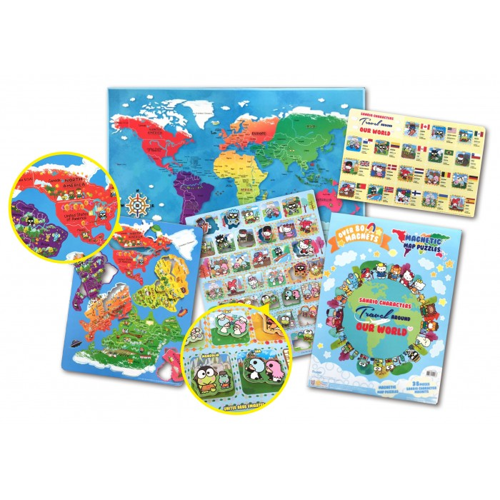 Characters Travel Around Our World Magnetic Map Puzzles Book – Magnetic Travel Map