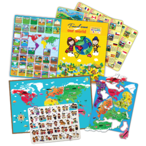 Travel Around Our World Magnetic Map Puzzles Book