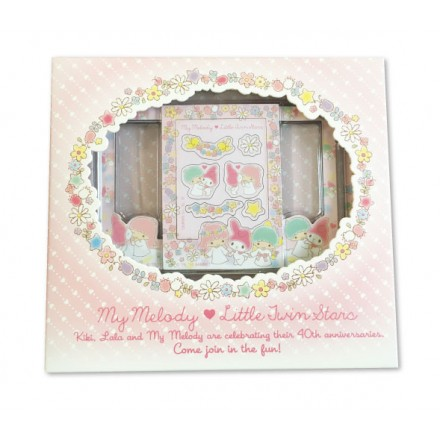 (out of stock) LIMITED EDITION My Melody & Little Twin Stars 40th Anniversary Magnetic Photo Frame Box Set